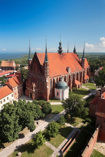 Stock Photo: 1566-831978 Frombork Cathedral from Copernicus Tower, Poland, Europe
