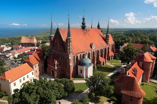 Frombork Cathedral from Copernicus Tower, Poland, Europe : Stock Photo