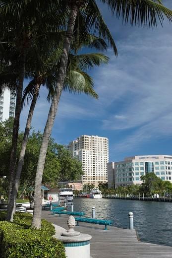 LAS OLAS RIVERFRONT NEW RIVER DOWNTOWN FORT LAUDERDALE FLORIDA USA : Stock Photo