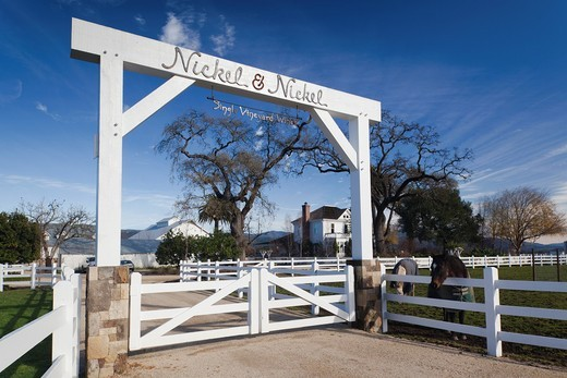 USA, California, Northern California, Napa Valley Wine Country, Rutherford, Nickel and Nickel Winery : Stock Photo