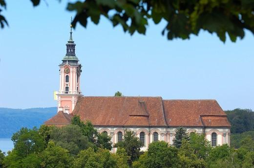 Stock Photo: 1566-833769 Birnau, Monastery Birnau, Birnau sanctuary, Marian pilgrimage church, Baden-Wuerttemberg, Germany, Lake constance, Bodensee, Europe.