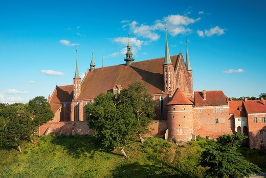 Stock Photo: 1566-836008 Frombork Cathedral from Copernicus Tower, Poland, Europe