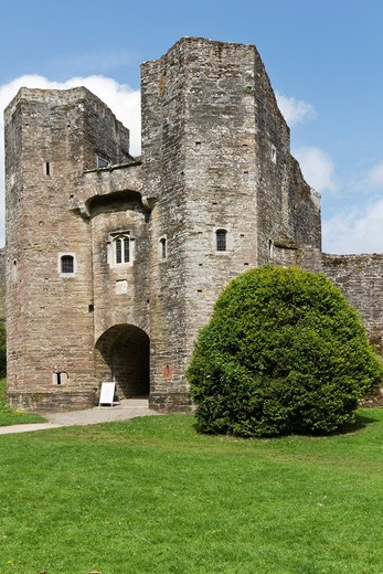 Berry Pomeroy castle in Devon : Stock Photo