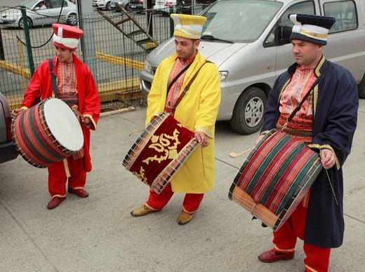 Turkey, Istanbul, street entertainers, musicians, : Stock Photo