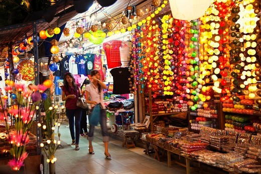 Bangkok Night Bazaar  Bangkok  Thailand, Southeast Asia, Asia. : Stock Photo
