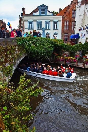 Stock Photo: 1566-837090 Canals in the city, Bruges, Brugge, Flanders,Belgium, UNESCO World Heritage Site.