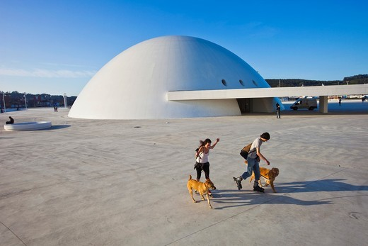 Stock Photo: 1566-837126 Oscar Niemeyer Cultural Center, Aviles, Asturias, Spain.