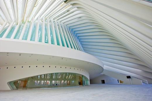 Stock Photo: 1566-837131 Conference and Exhibitions Centre Ciudad de Oviedo by Santiago Calatrava, Oviedo, Asturias, Spain.