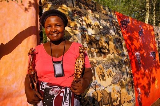 Handicrafts, Kruger National Park, South Africa : Stock Photo