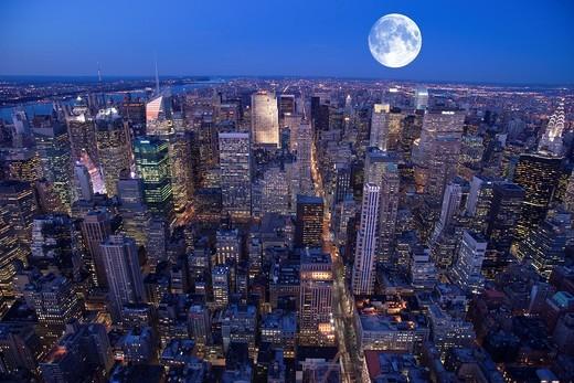 Stock Photo: 1566-839007 MIDTOWN SKYLINE MANHATTAN NEW YORK CITY USA