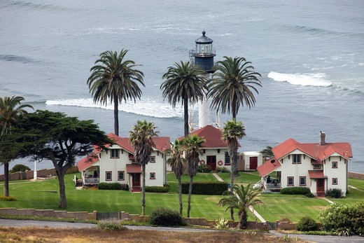NEW POINT LOMA LIGHTHOUSE SAN DIEGO CALIFORNIA USA : Stock Photo