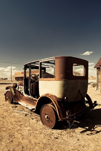 Stock Photo: 1566-841671 USA, Nevada, Great Basin, Goldfield, ghost town