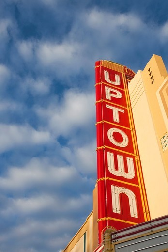USA, California, Northern California, Napa Valley Wine Country, Napa, art-deco Uptown Theater : Stock Photo