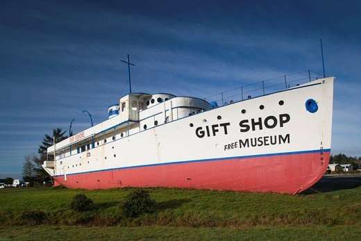 USA, California, Northern California, North Coast, Smith River, Ship Ashore gift shop and museum : Stock Photo