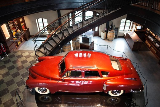 USA, California, Northern California, Russian River Wine Country, Geyserville, Francis Ford Coppola Winery, 1948 Tucker automobile used in the film Tucker : Stock Photo