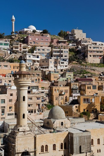 Jordan, Amman-area, Salt, Ottoman-era town, overview : Stock Photo
