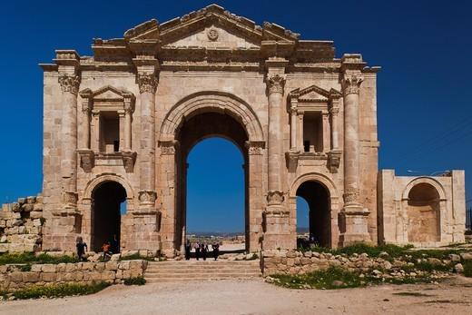 Stock Photo: 1566-842250 Jordan, Jerash, Roman-Era Hadrians Arch