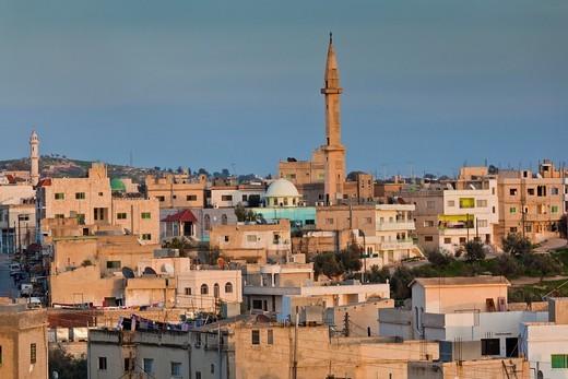 Jordan, Umm Qais-Gadara, the new town, sunset : Stock Photo