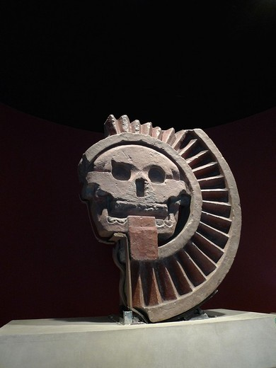 Teotihuacan battlement, Anthropology National Museum, Mexico City : Stock Photo