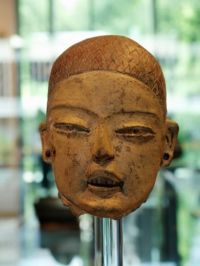 Stock Photo: 1566-843655 Teotihuacan Mask, Anthropology National Museum, Mexico City