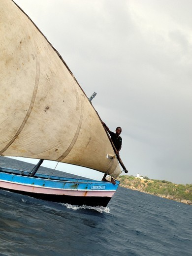 Stock Photo: 1566-843937 Sailing in the Bay of Antsiranana (former Diego-Suarez), Diana region, Madagascar, Indian Ocean