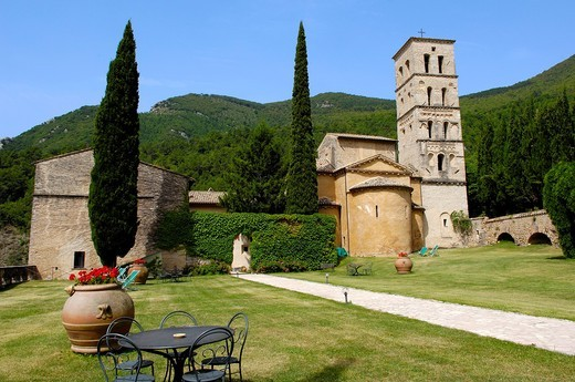 Stock Photo: 1566-844683 San pietro in Valle, Abbey, Ferentillo, Valnerina, Terni, Umbria, Italy, Europe