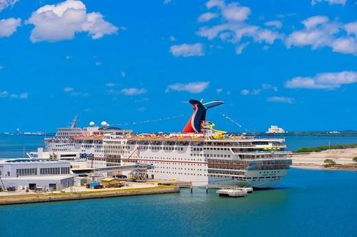 Carnival Sensation cruise ship docked at Port Canaveral, Florida USA : Stock Photo