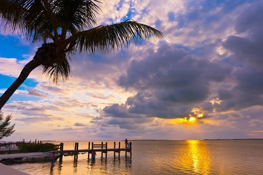 Sunset, Key Largo, Florida Keys, Florida USA : Stock Photo