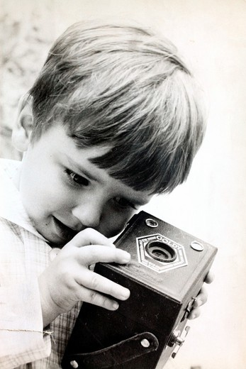 curiosity of a child&39, s old camera : Stock Photo