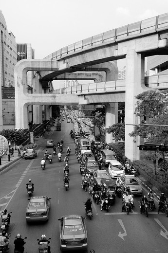 Traffic on the Siam Square in Bangkok : Stock Photo