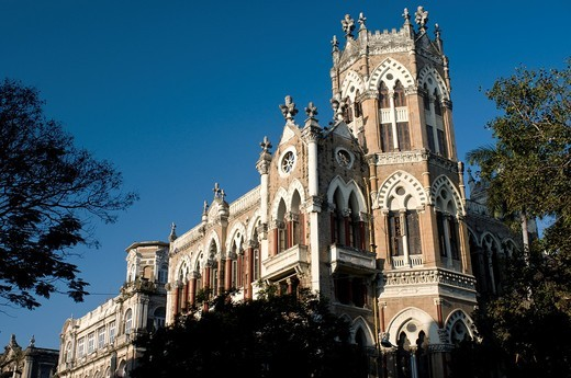 Stock Photo: 1566-847772 Colonial building, Fort Area, Mumbai, India