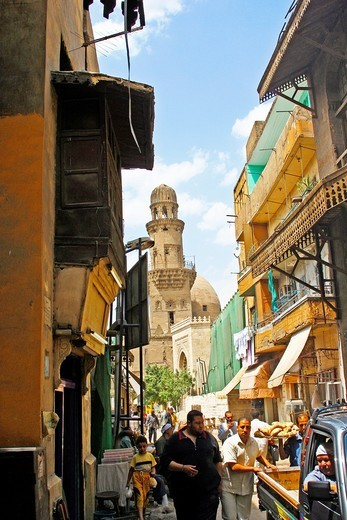 day life of old street, Islamic Quarter,City of Cairo, Egypt : Stock Photo