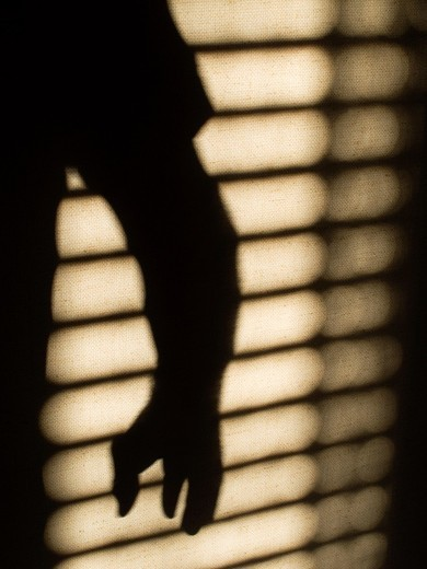 Stock Photo: 1566-848576 Silhouette of sinister figure