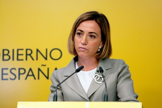 Carme Chacon, Spain´s Defense Minister Ministry of Defence, Madrid, Spain, 06 26 2011 : Stock Photo
