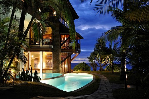 Stock Photo: 1566-849460 luxurious hotel Le Saint Alexis, Boucan Canot beach, Saint-Gilles-les-Bains Reunion island, overseas departement of France, Indian Ocean