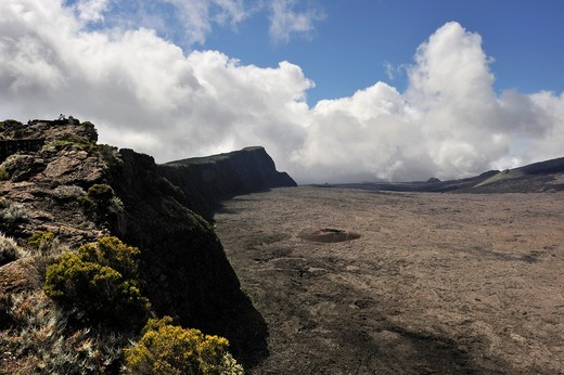 Stock Photo: 1566-849517 view on the caldera Enclos Fouque from the Rempart de Bellecombe Reunion island, overseas departement of France, Indian Ocean