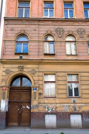 Stock Photo: 1566-849961 Borivojova 27 where Franz Kafka had an Asbestos factory with his family 1912-17 Zizkov district Prague Czech Republic Europe
