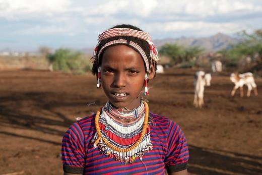 Stock Photo: 1566-850178 Halima is an ethiopian girl living in Ethiopia