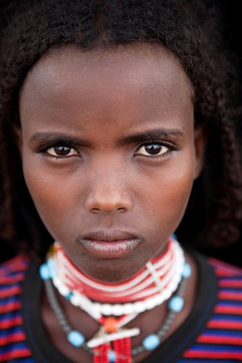 Stock Photo: 1566-850185 An ethiopian girl