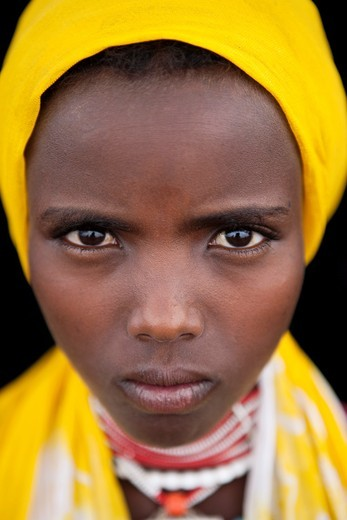 Stock Photo: 1566-850188 An ethiopian girl
