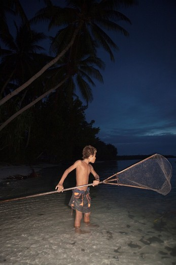 Boy on Tuvalu, island in the Pacific  MR : Stock Photo