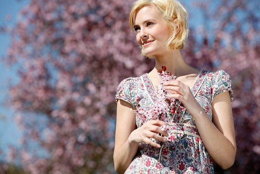 woman spring portrait : Stock Photo