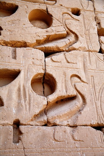 Mortuary Temple of Ramesses III, Medinet Habu, Luxor West bank, Egypt : Stock Photo