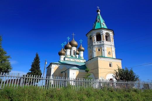 Ascension church 1686-1694, Verkhnie Matigory, Archangelsk Arkhangelsk region, Russia : Stock Photo