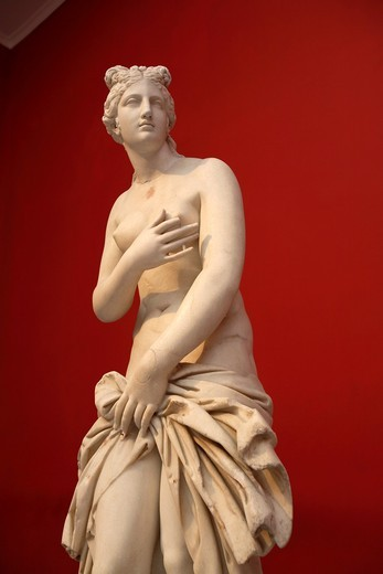 Stock Photo: 1566-853162 Statue of Aphrodite from 2nd century AD, National Archaeological Museum, Athens, Greece