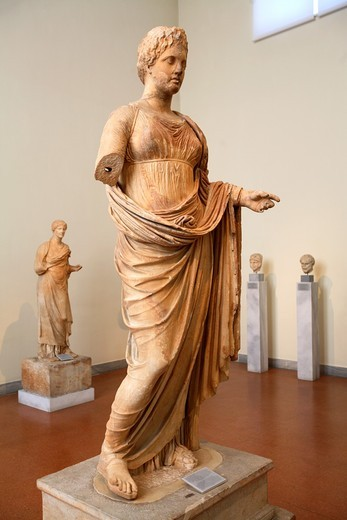 Statue of Goddess Themis, National Archaeological Museum, Athens, Greece : Stock Photo