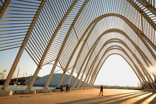 Olympic Sport Complex by Calatrava, Athens, Greece : Stock Photo