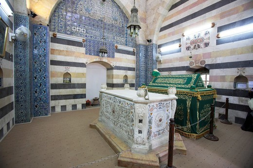 Stock Photo: 1566-853259 The tomb of sultan Saladin, Damascus, Syria
