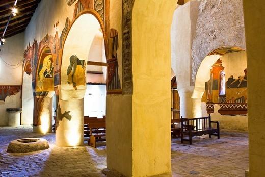Stock Photo: 1566-854257 Romanesque murals in the church of Sant Joan de Boi - Taüll - Vall de Boi - Pyrenees - Lleida Province - Catalonia - Cataluña - Spain