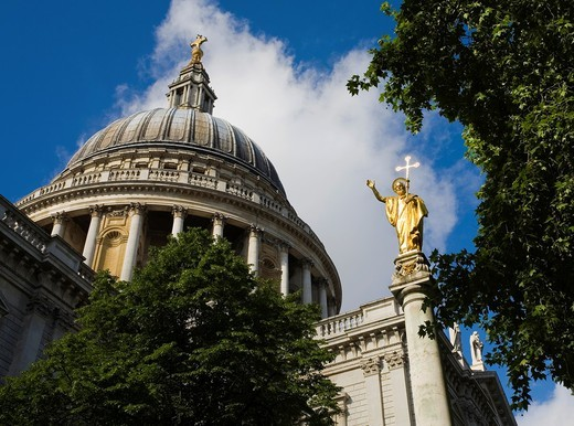 Stock Photo: 1566-854488 St Paul´s Cathedral, London, England, UK.